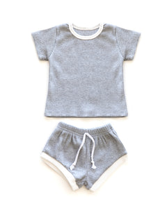 Ribbed Cozies in Gray - Reverie Threads