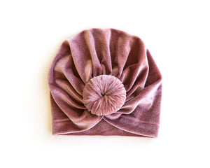 Velvet Knot Turban in Rosy Pink - Reverie Threads