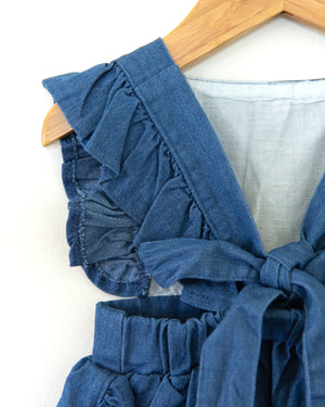 April Denim Romper - Reverie Threads