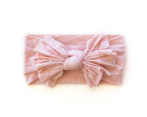 Hot Mess Nylon Headband in Perfect Blush - Reverie Threads