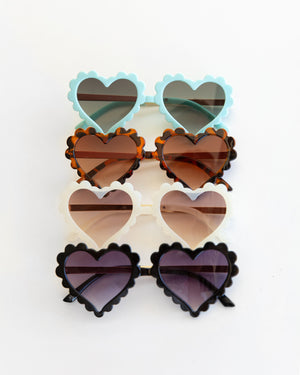 Heart Eye Sunnies in Light Blue - Reverie Threads