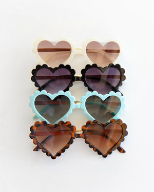 Heart Eye Sunnies in Black - Reverie Threads