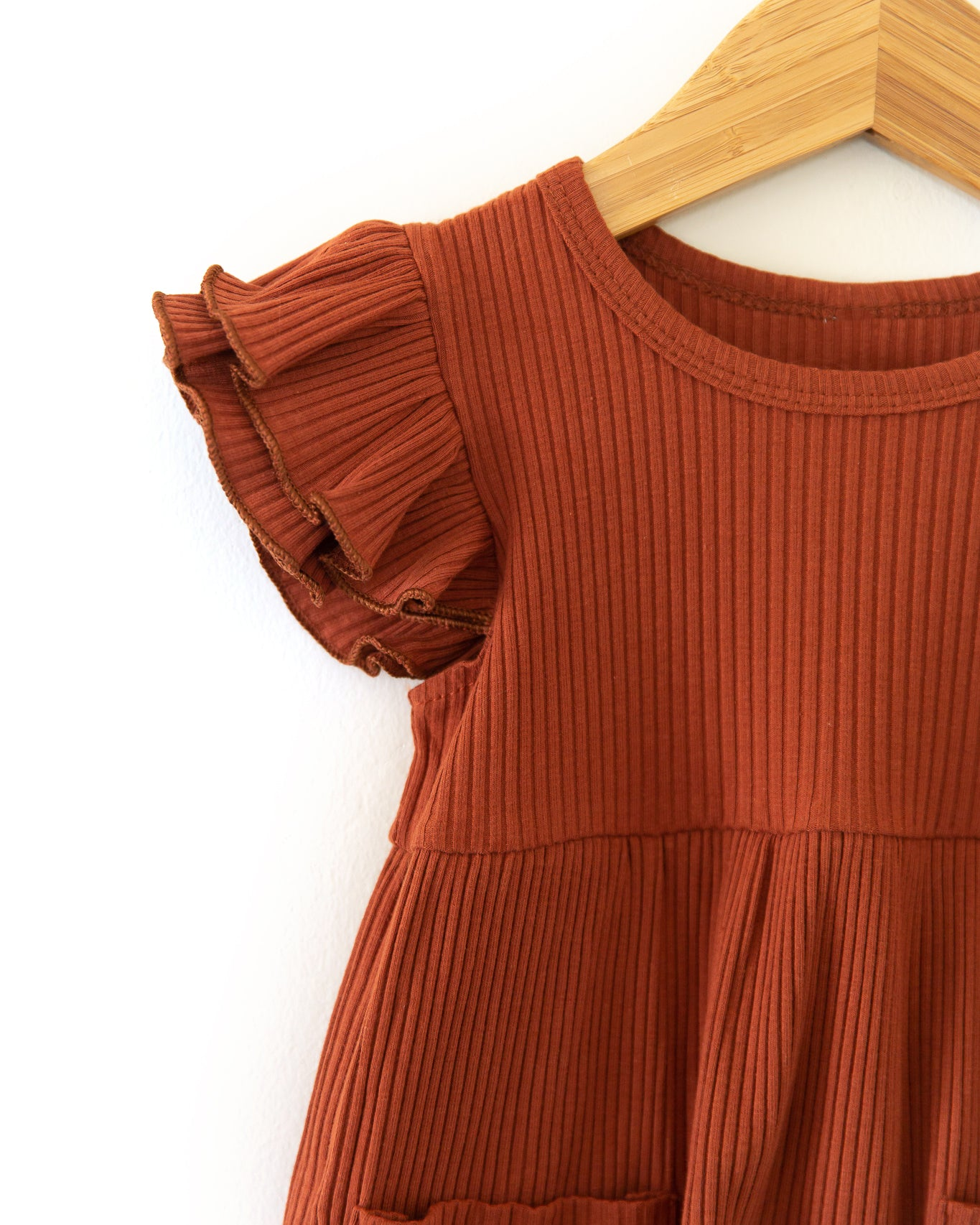 Hattie Dress in Rust - Reverie Threads