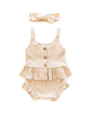 Kylie Outfit in Oatmeal - Reverie Threads