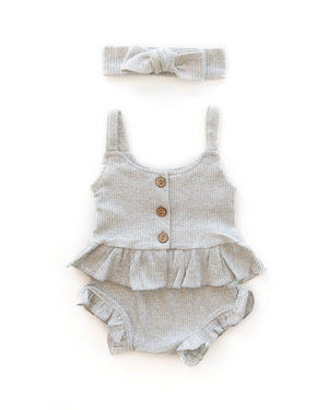 Kylie Outfit in Heather Gray - Reverie Threads
