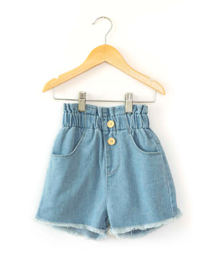 High Waisted Denim Shorts - Reverie Threads