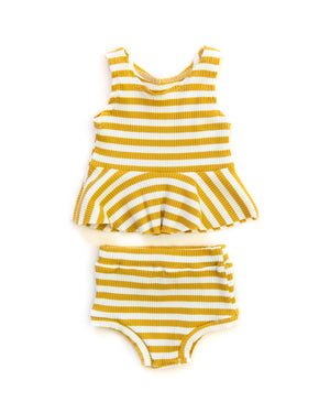 Sunni Outfit in Lemon Stripes - Reverie Threads