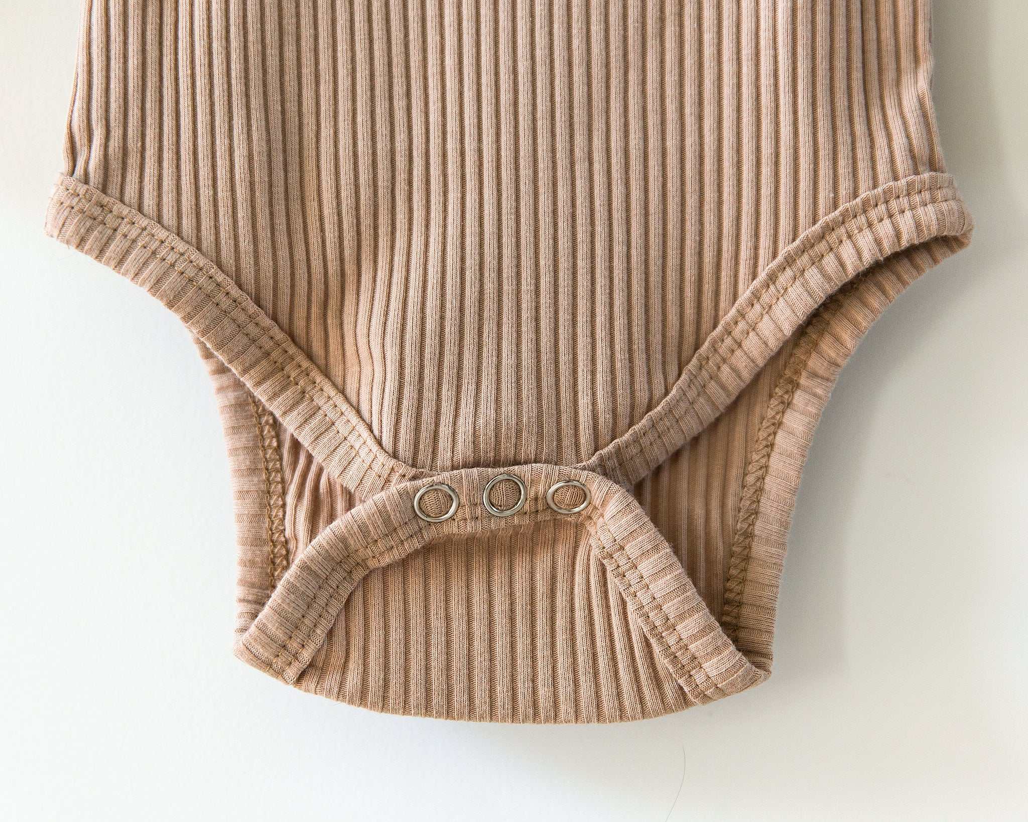 Ribbed Long-Sleeved Bodysuit in Caramel - Reverie Threads