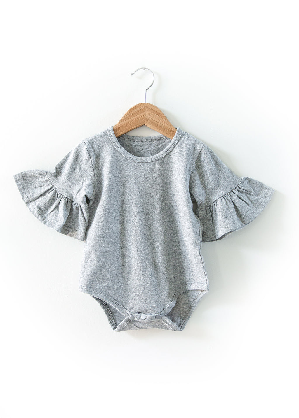 Annabelle Bodysuit in Gray - Reverie Threads