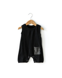 Dude Romper in Black - Reverie Threads