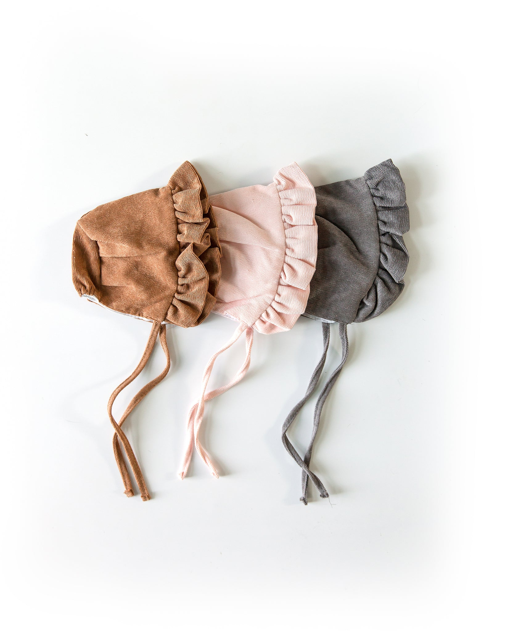 Ruffle Bonnet in Baby Pink - Reverie Threads