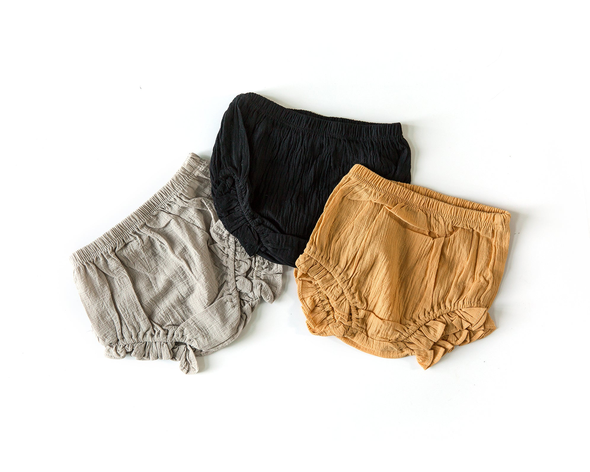 Ruffle Bloomers in Oatmeal