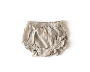 Ruffle Bloomers in Oatmeal - Reverie Threads