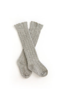 Knee High Socks in Gray - Reverie Threads