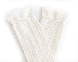 Knee High Socks in White - Reverie Threads