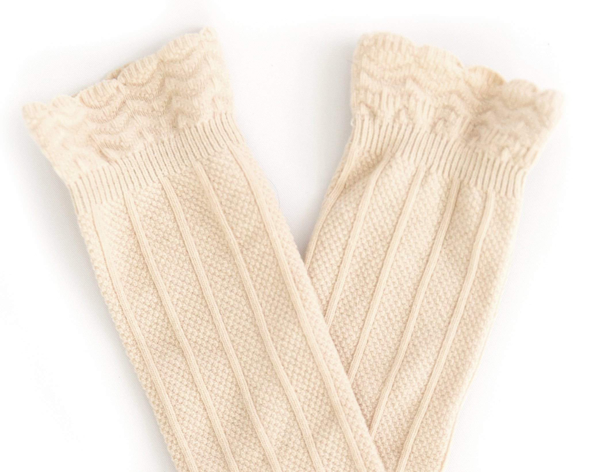 Knee High Socks in Beige - Reverie Threads