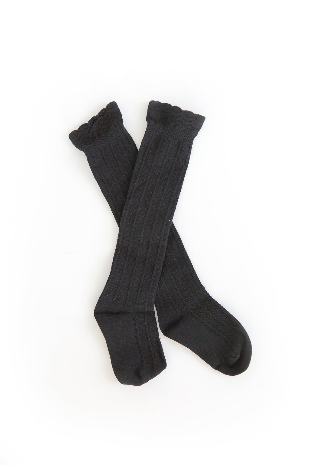 Knee High Socks in Black - Reverie Threads