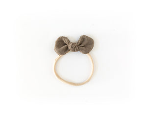 Corduroy Bow Headband in Brown