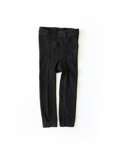 Knit Leggings in Black - Reverie Threads