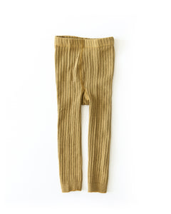 Knit Leggings in Dark Mustard
