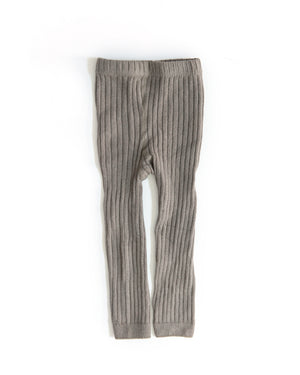 Knit Leggings in Taupe - Reverie Threads