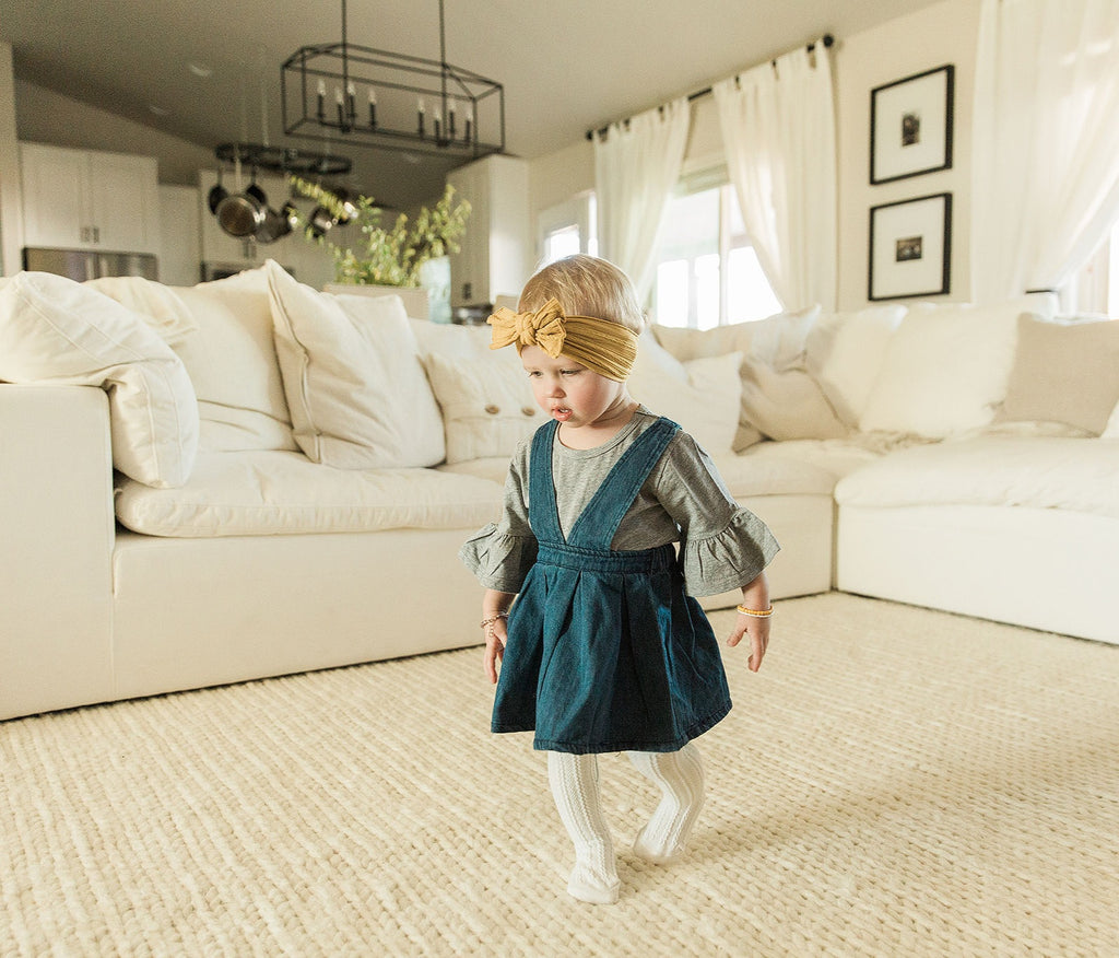 Pom Pom Knit Braid Beanie in Ivory - Reverie Threads