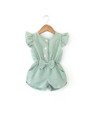 Penelope Romper in Seafoam - Reverie Threads