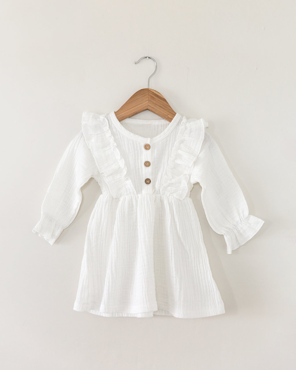 Madison Dress in White - Reverie Threads