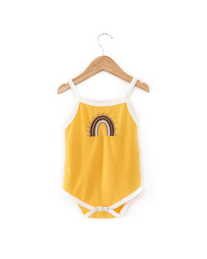 Rainbow Bodysuit in Mustard - Reverie Threads