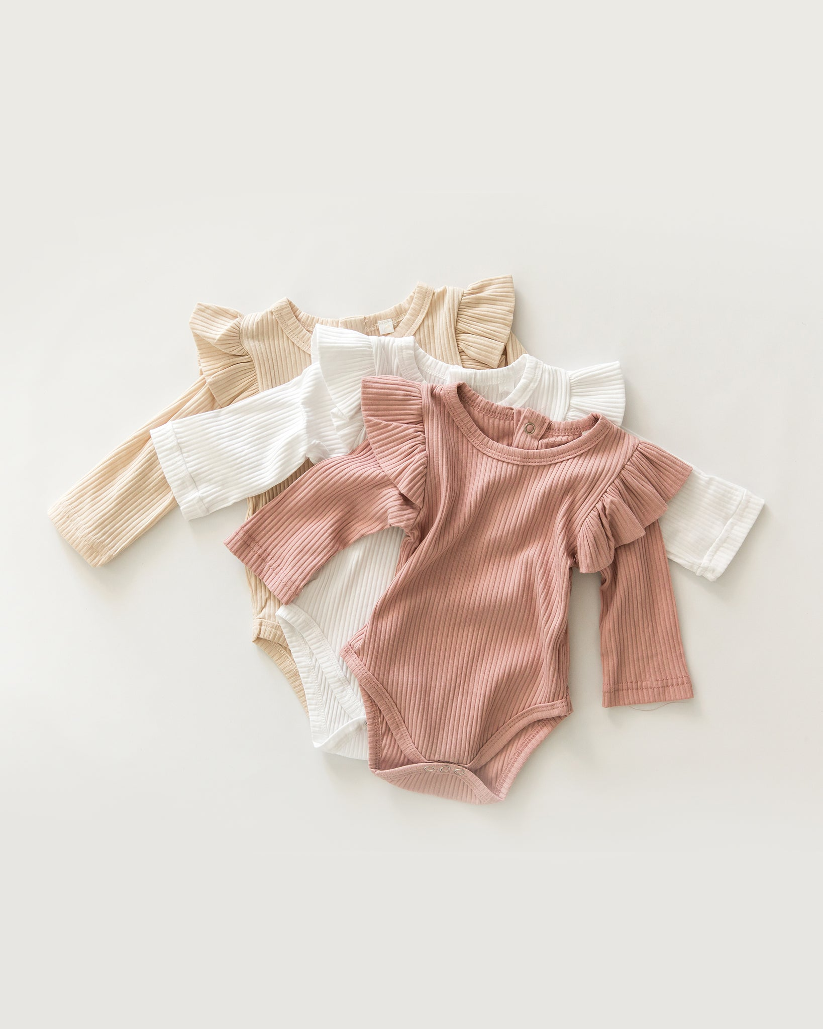 Ruthie Long-Sleeved Bodysuit in Beige