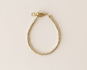 Dainty Bead Bracelet in Gold - Reverie Threads