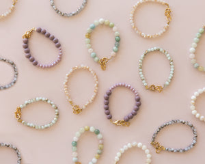 Bubble Bracelet in White Marble 14K Gold Filled - Reverie Threads