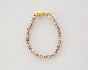 Shimmer Bead Bracelet in Rosy Brown
