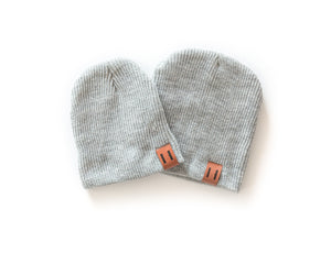 Daddy & Me Dude Beanie in Gray - Reverie Threads