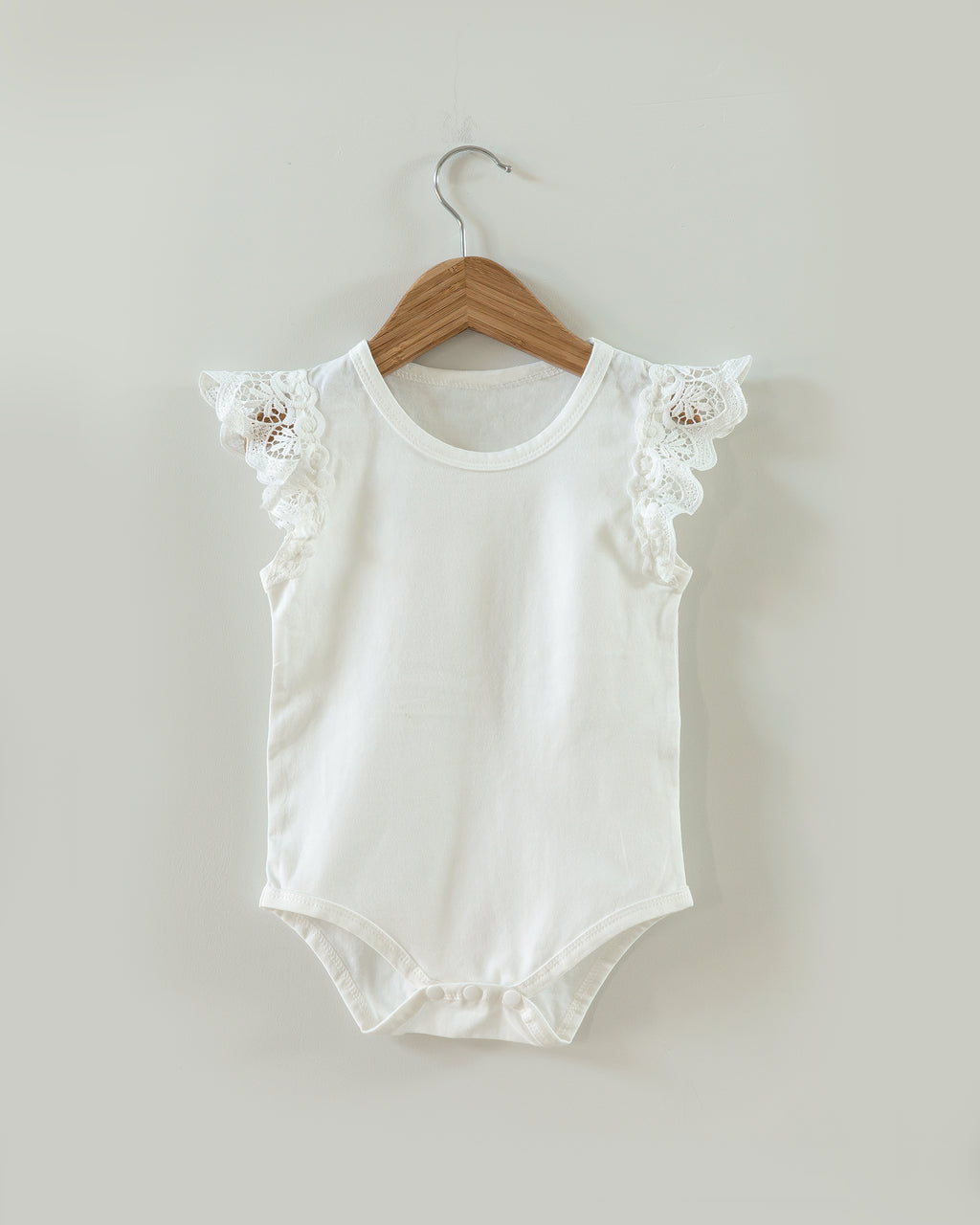 Jade Lace Sleeve Bodysuit in White - Reverie Threads