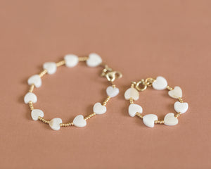 Mama & Me Heart of Gold Bracelet - Reverie Threads