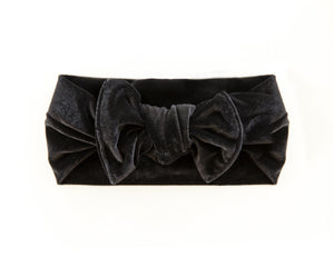 Velvet Chunky Knot Headband in Black - Reverie Threads