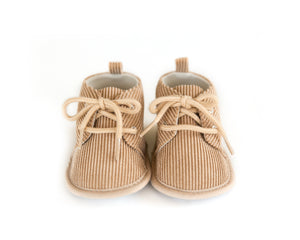 Corduroy Shoes in Beige - Reverie Threads