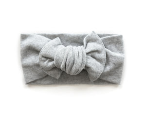Ribbed Chunky Knot Headband in Gray - Reverie Threads
