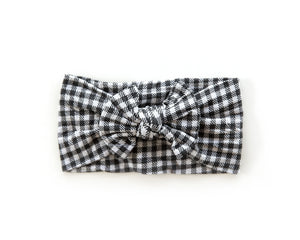Nylon Knot Headband in Buffalo Plaid - Reverie Threads