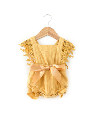 Jami Romper in Mustard - Reverie Threads
