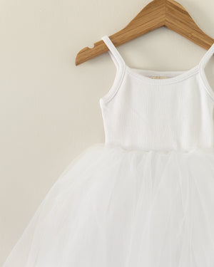 Ballerina Dress in White - Reverie Threads