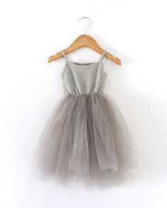 Ballerina Dress in Gray - Reverie Threads