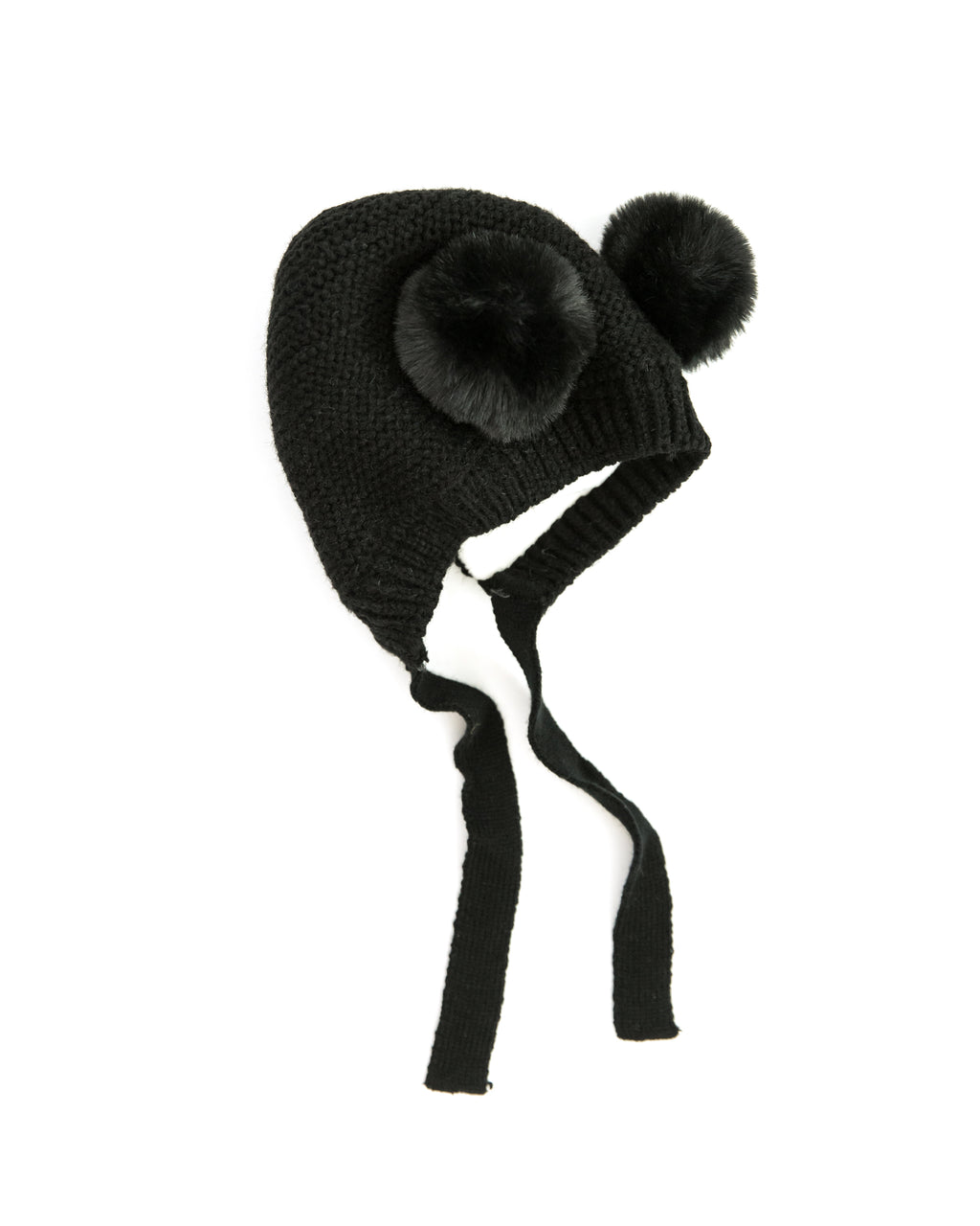 Teddy Knit Beanie in Black - Reverie Threads
