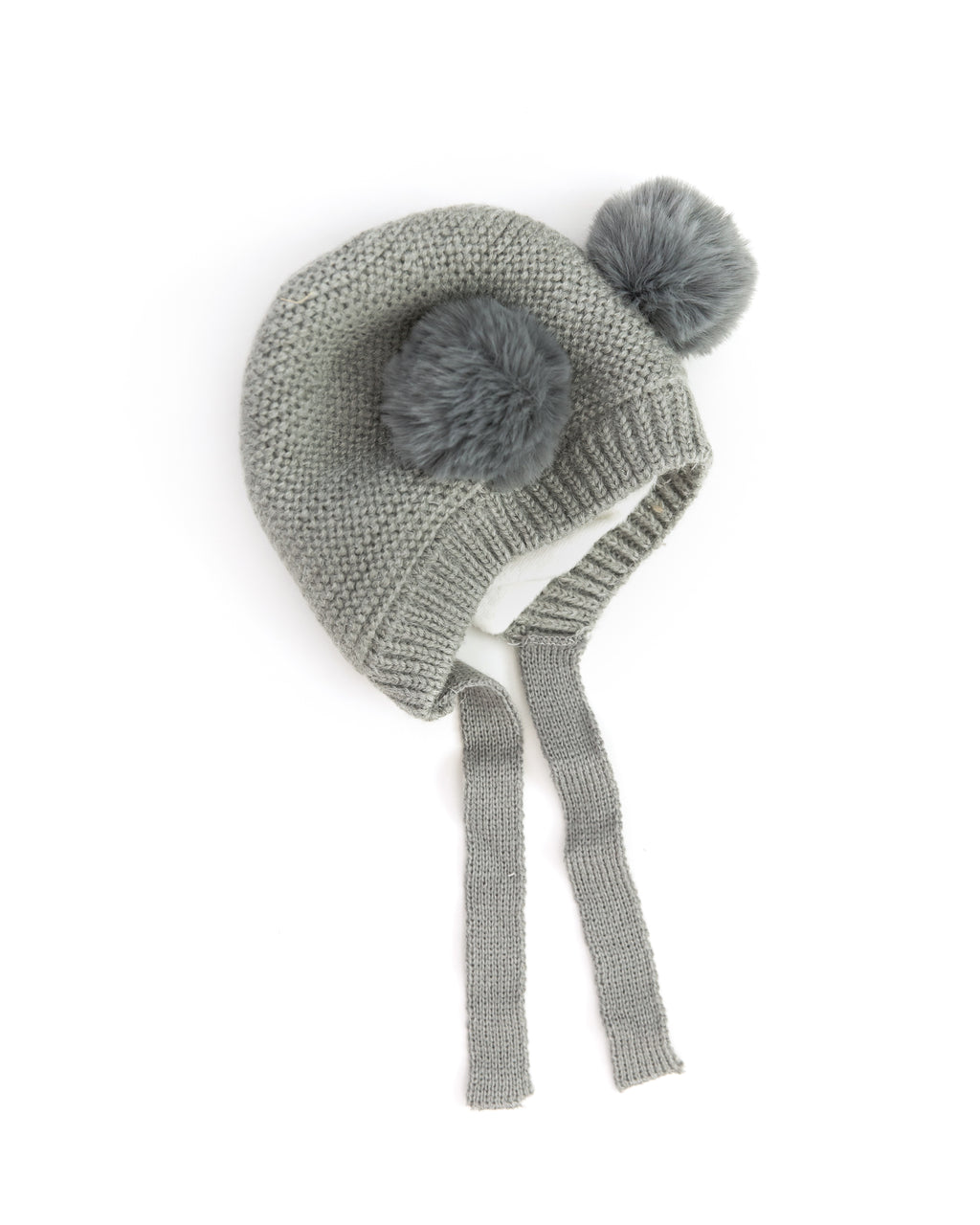 Teddy Knit Beanie in Gray - Reverie Threads