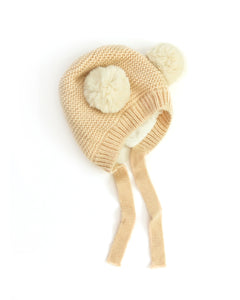 Teddy Knit Beanie in Nude - Reverie Threads