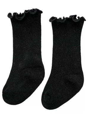Meadow Socks in Black - Reverie Threads
