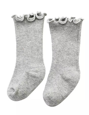 Meadow Socks in Gray - Reverie Threads