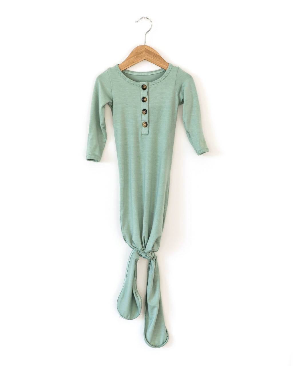 Buttery Soft Knotted Gown in Seafoam Green - Reverie Threads