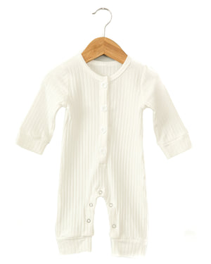 Roman Coverall Bodysuit in White - Reverie Threads